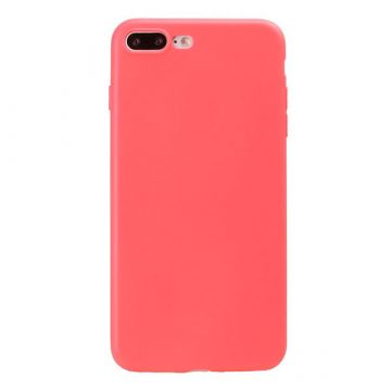 TPU iPhone 8 Plus / 7 Plus Tasche - Korallenrot
