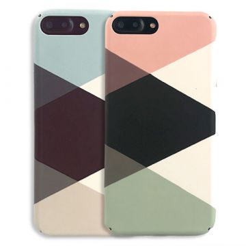 Hartschale Soft Touch geometrisch iPhone 8 / iPhone 7