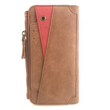 Suede Look Portfolio Stand Case iPhone X