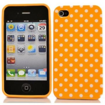 Pink Cover Case with White Dots iPhone 4 and 4s
