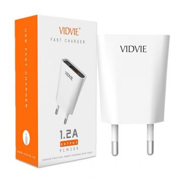 1.2A USB charger  and Vidvie Lightning cable