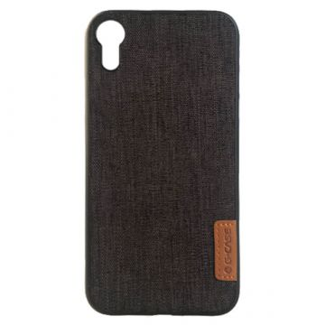Coque rigide effet jean Dark Series pour iPhone XR G-Case