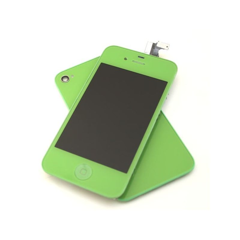 Complete Kit: Glass Digitizer & LCD Screen & Frame & Backcover First Quality iPhone 4 green