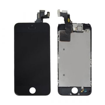 Original Glass digitizer complete assembled, LCD Retina Screen and Full Frame for iPhone 5C Black
