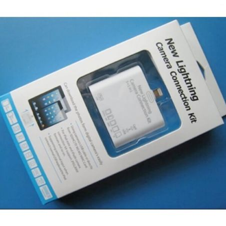 Kit 5 in 1 USB Card Reader SD MMC TF M2 MS iPad, iPad 1 2 3 + Free Touch Pen Black