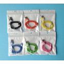 Flat Resistant Lightning USB Cable for iPhone 5, iPad Mini, Ipod 5 and Nano 7