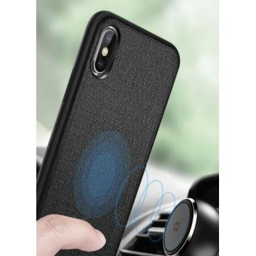 Coque TPU effet cuir magnétique Bass Series pour iPhone XS Max