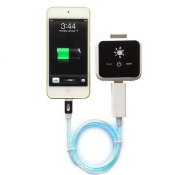 Zwarte LED-licht-kabel voor IPhone 5, iPad Mini, iPod Touch 5 et Nano 7