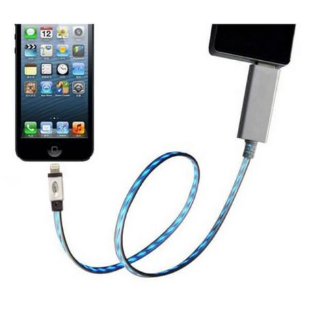 LED-Light Cable Black IPhone 5, iPad Mini, iPod Touch 5 and Nano 7