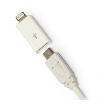 Adapter Lightning 30 pins naar Micro USB iPhone 5, iPad Mini, iPod Touch 5 en Nano 7