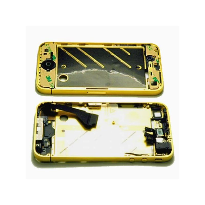 Frame Metallic Border Bezel Full Assembly for iPhone 4S Gold