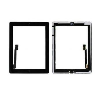 Touch Screen Glas / Digitizer Vergadering voor iPad 2 Zwart