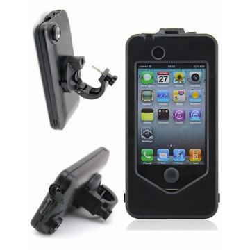 Black bicycle and motorcycle support Weather Resist for iPhone 5/5S/SE
