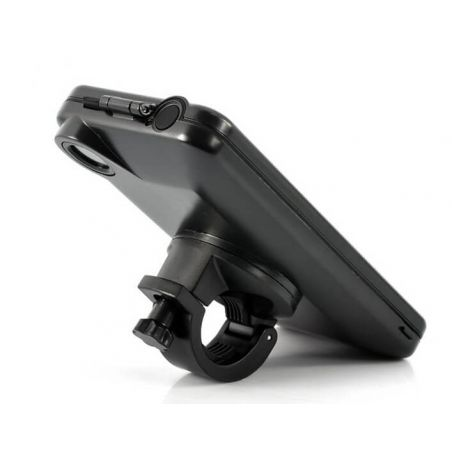 Black bicycle motorcycle support in WATERPROOF for iPhone 5