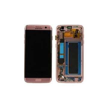 Ecran complet or rose (Officiel) pour Galaxy S7 Edge