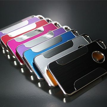 Aluminium Series geborsteld Cover Fits iPhone 5/5S/SE hoesje