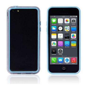 Bumper - Contour TPU bleu et transparent iPhone 5C