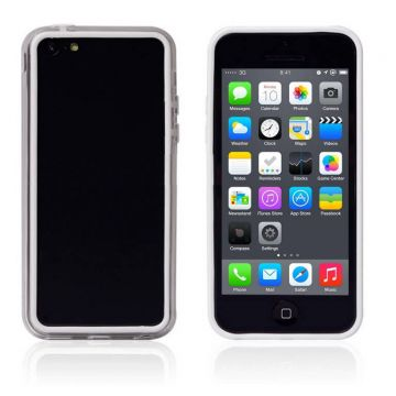Bumper witte en transparante rand in TPU IPhone 5C