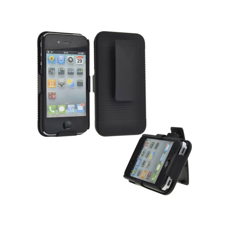 Sliding Hard Case Holster with Belt Clip for iPhone 4 4S.