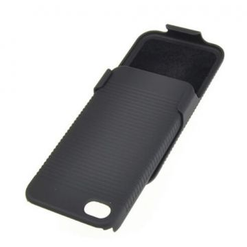 Schuivende Hard Case met riemclip iPhone 4 4S.