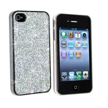 Coque Strass - Paillettes Argenté IPhone 4 & 4S
