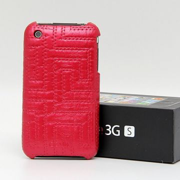 Imitatieleer reliëf Case iPhone 3G 3GS Rood