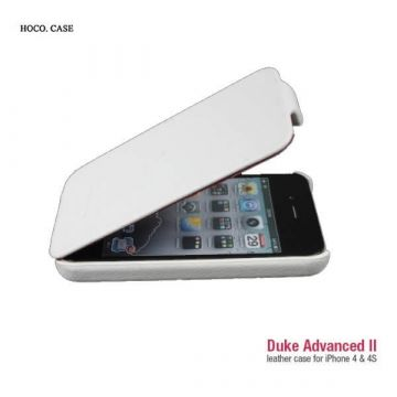 Housse Cuir Blanc Hoco Iphone 4 4S