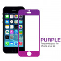 metallic Tempered Screen Protector color iPhone 5 5S 5C Front clear