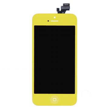 Yellow Glass digitizer, LCD Retina Screen and Full Frame for iPhone 5