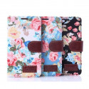 Flower style Portfolio Stand Case iPhone 5/5S/SE