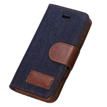 Denim style Portfolio Stand Case iPhone 5/5S/SE