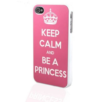 Coque iPhone 4 4S Keep Calm and Be a Princess