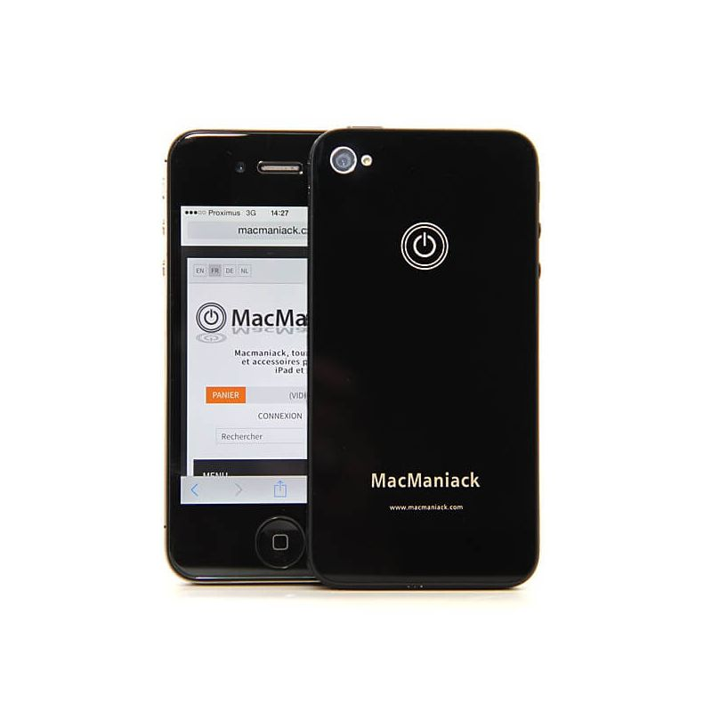 MacManiack Replacement Back Cover iPhone 4S Black