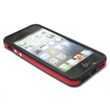 TPU Black and Red Bumper iPhone 5/5S/SE