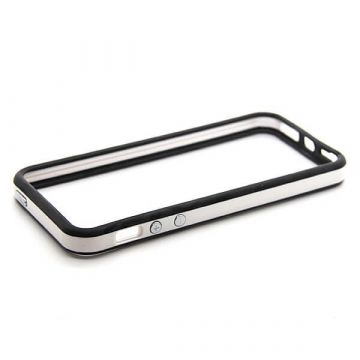 TPU Black and White Bumper iPhone 5/5S/SE
