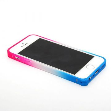 iPhone 5/5S/SE bumper roze blauw gradient - iPhone hoesjes