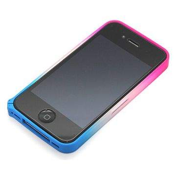 Blue and Pink Gradient Bumper iPhone 4 4S