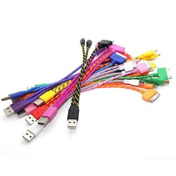 Braided Cable 3 in 1 iPhone 4 iPhone 5 and Micro USB