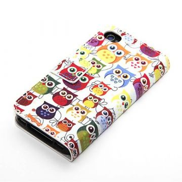Portfolio Stand Case Owls Design iPhone 4 4S