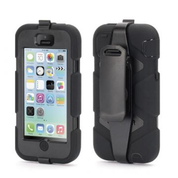 Coque indestructible noire iPhone 5C
