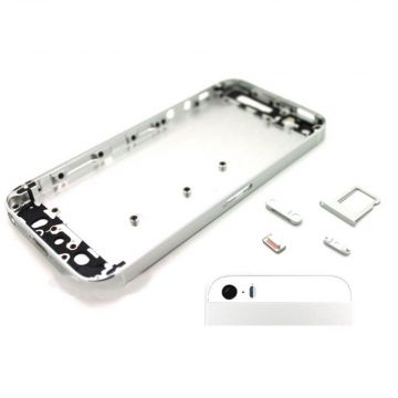 Frame and metallic border for iPhone 5s Silver White