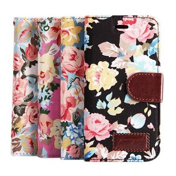 Flower style Portfolio Stand Case iPhone 6