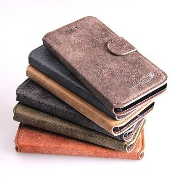 Suede Look Portfolio Stand Case iPhone 6