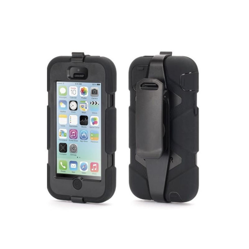 Indestructible Black Case for iPod Touch 5