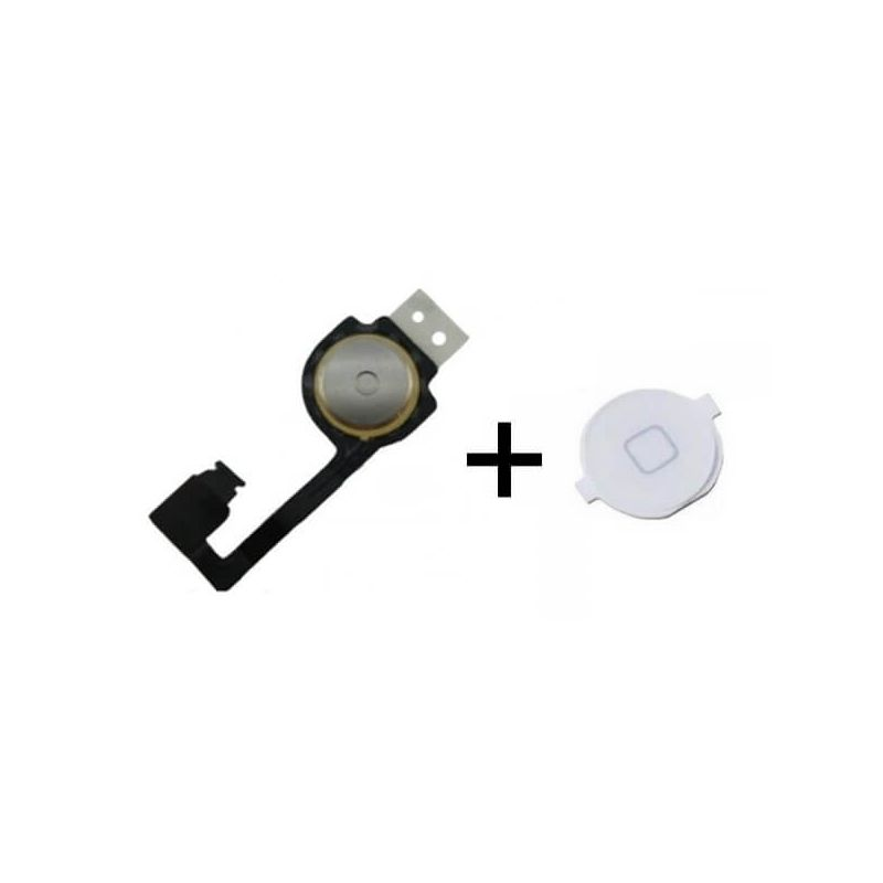 Flex home button and button for iPhone 4S White
