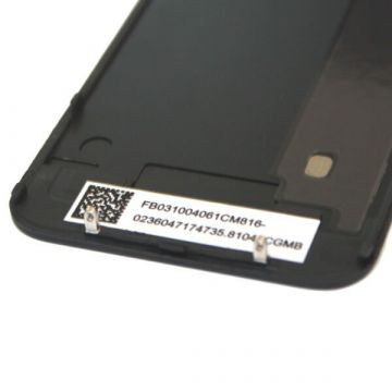 Vervangings Backcover Glas IPhone 4S Zwart