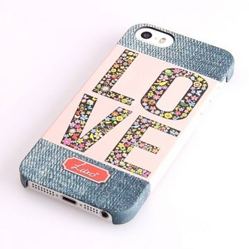 Love my Denim Pattern Hard Case iPhone 5/5S/SE