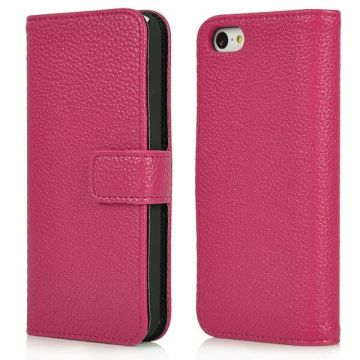 Etui portefeuille simili cuir couleur iPhone 5C