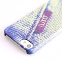 Luxo Label Denim Pattern Hard Case iPhone 5/5S/SE