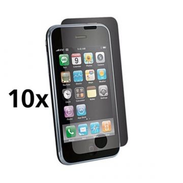 Pack de 10X Films de Protection écran Iphone 3/3GS AV Brillant